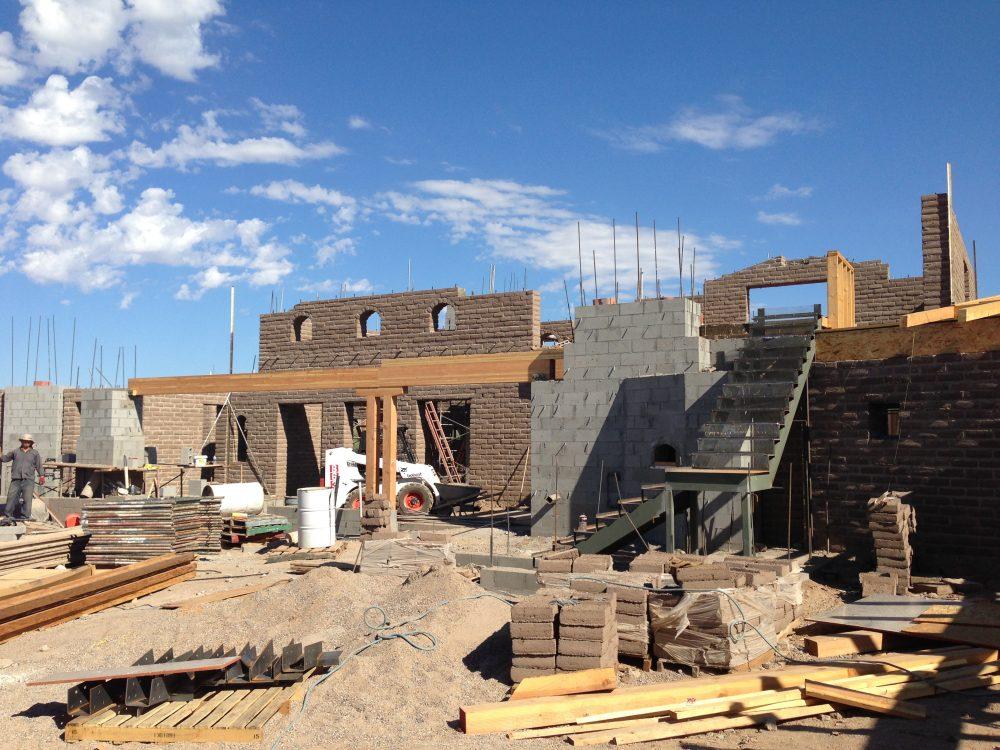 Adobe Brick Construction Project