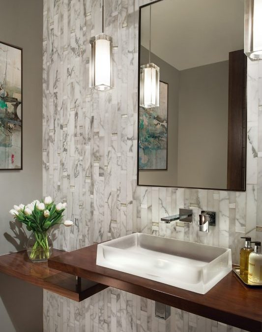 JBD Acknowledgement from Popular Website, Houzz, for 2016 Powder Room