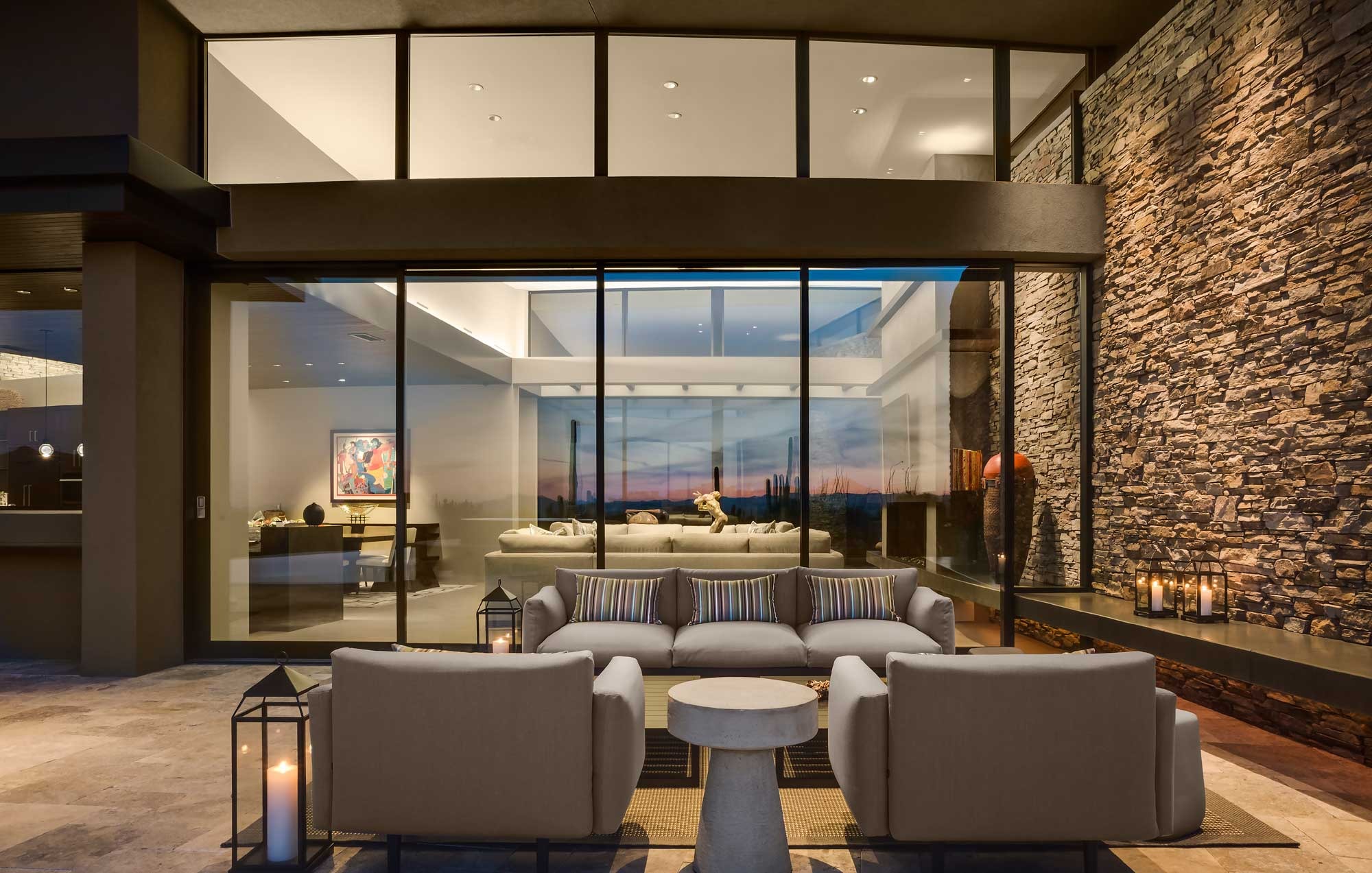 Contemporary Desert Southwest Living Room