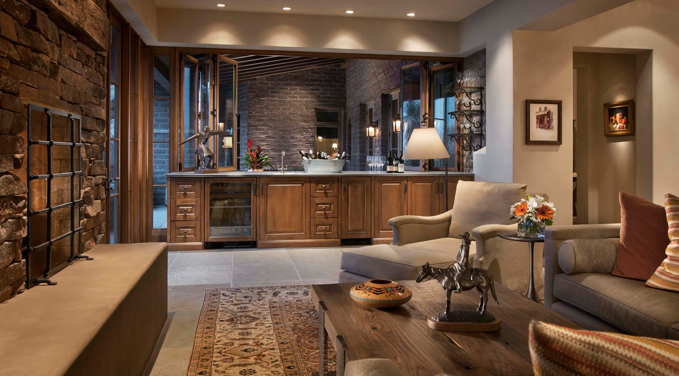Adobe Construction Is Classic In The Southwest, And Adds Design Character  To A Desert Dwelling. This Arizona Luxury Interior Design Showcases  Reclaimed Wood ...