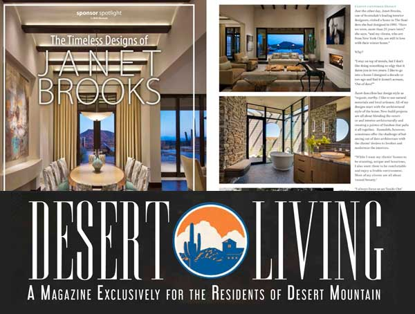 Desert Living Magazine: The Timeless Designs of Janet Brooks