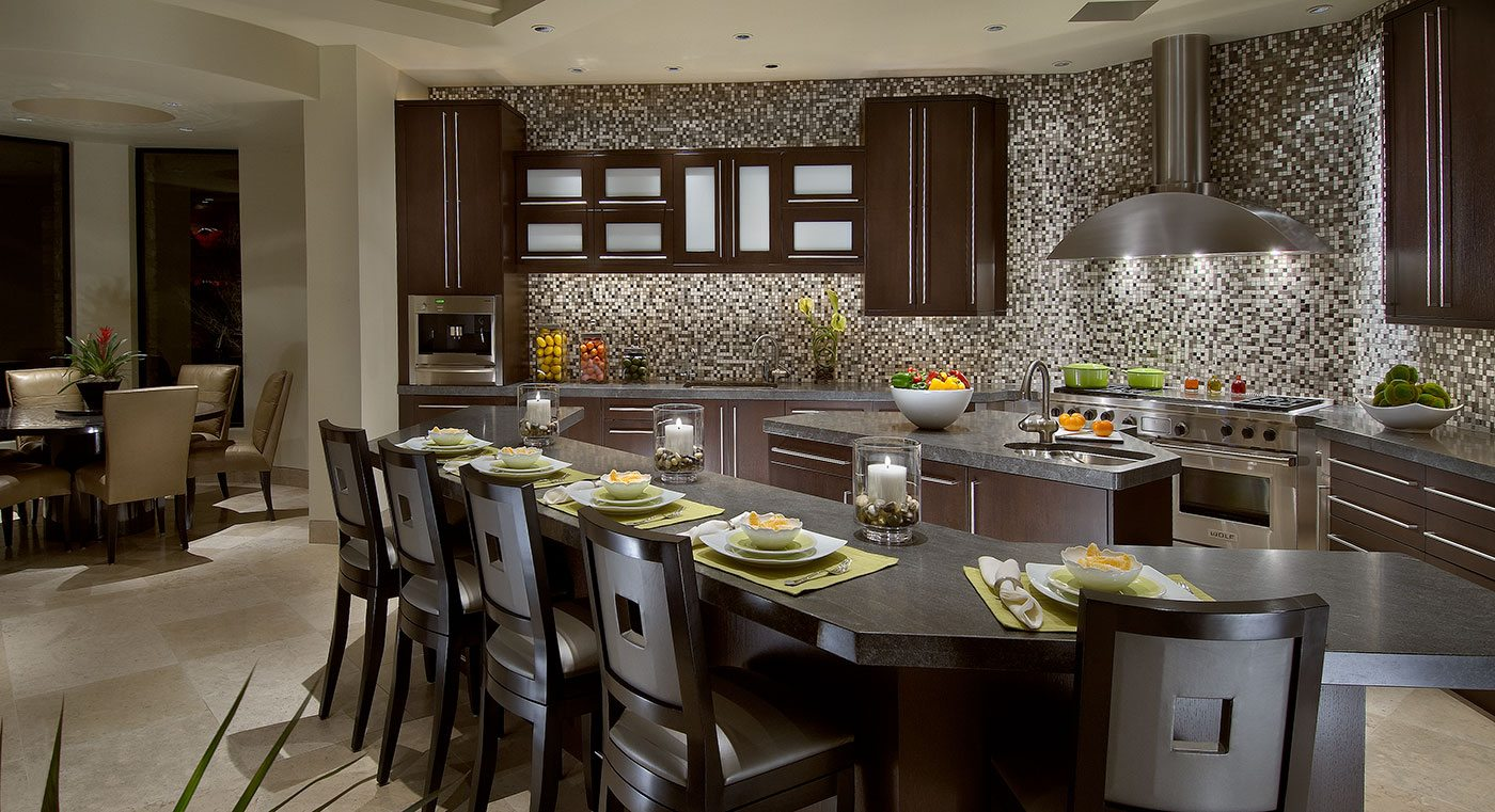 Elegant contemporary kitchen janet brooks design for Elegant modern kitchen designs