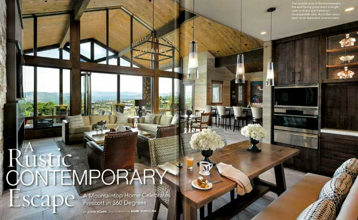 Phoenix Home & Garden: A Rustic, Contemporary Design - Janet Brooks ...